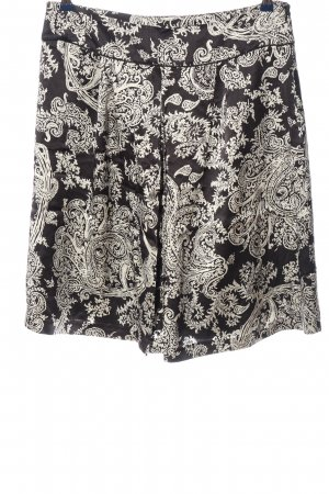 1.2.3. UN DEUX TROIS Paris Rozkloszowana spódnica czarny-biały Łączone wzory