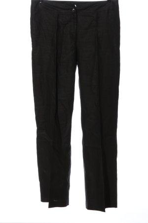 1.2.3. UN DEUX TROIS Paris Linen Pants black casual look