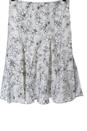 1.2.3. UN DEUX TROIS Paris Midi Skirt light grey-black allover print casual look
