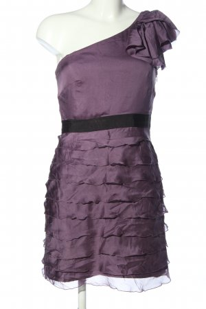 1.2.3. UN DEUX TROIS Paris One Shoulder Dress lilac-black casual look