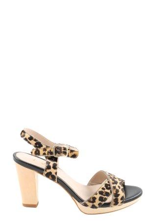 1.2.3. UN DEUX TROIS Paris Strapped High-Heeled Sandals cream-black elegant