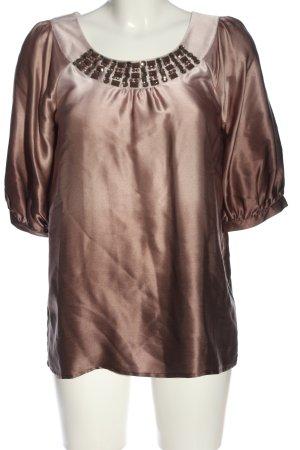 1.2.3. UN DEUX TROIS Paris Jedwabna bluzka brązowy Gradient W stylu casual