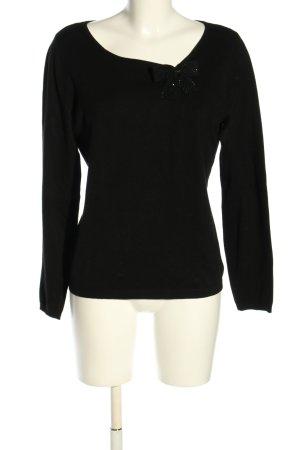 1.2.3. UN DEUX TROIS Paris Sweter z dzianiny czarny W stylu casual