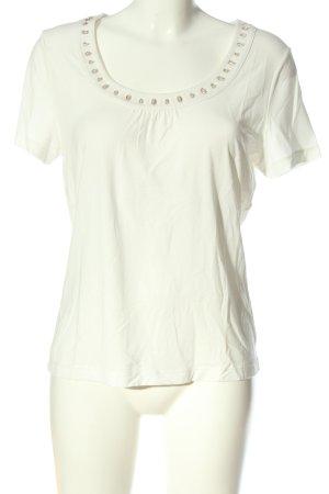 1.2.3. UN DEUX TROIS Paris Koszulka z dzianiny w kolorze białej wełny