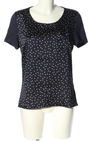 1.2.3. UN DEUX TROIS Paris T-shirt czarny-w kolorze białej wełny