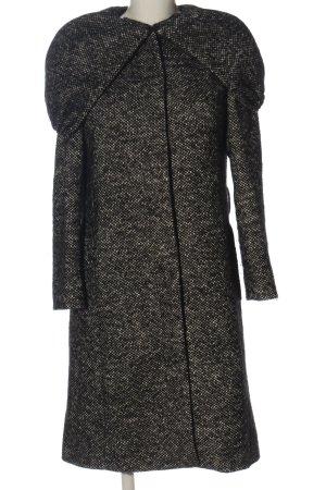 1.2.3. UN DEUX TROIS Paris Płaszcz zimowy czarny-w kolorze białej wełny
