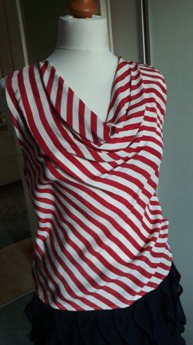 1.2.3. UN DEUX TROIS Paris Blouse Top brick red silk