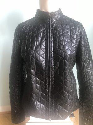 ❤️1/3 Verkaufserlös gehen an die Kindernothilfe❤️ Wattierte quilted Lederjacke mit Stehkragen von Santa Croce