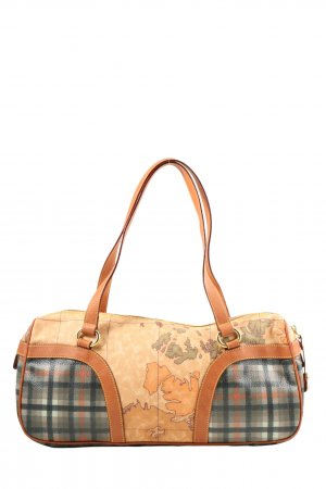 1'classe/Avitro Martini, Florenz Shoulder Bag light orange-green check pattern