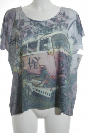 1 NY tee T-shirt motif d'art style décontracté