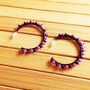 Ear Hoops black-pink