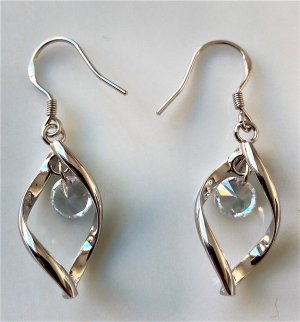 markenlos Dangle silver-colored metal