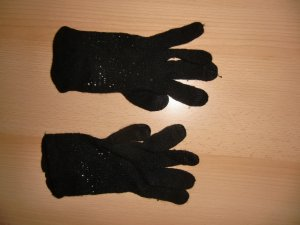 Esprit Gants en tricot noir tissu mixte