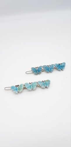 Hair Clip silver-colored-azure