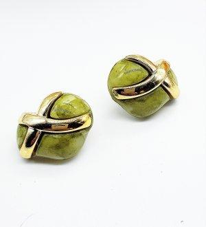 Clip d'oreille doré-gris vert