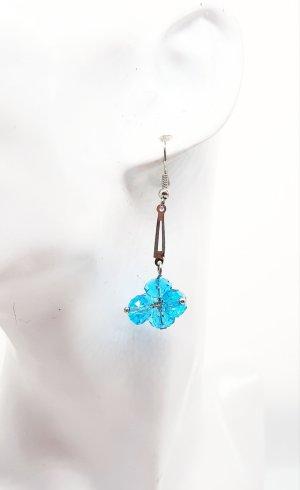 1 Paar Türkis farbene Kristall Ohrringe, 5cm