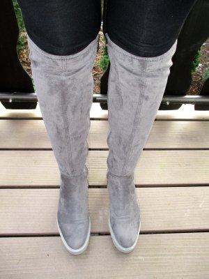 Tamaris Kniehoge laarzen grijs