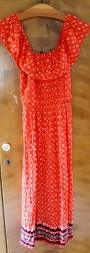 1 xSuperdry Off-Shoulder-Kleid »RUFFLE SMOCKED DRESS« im Ethno-Look