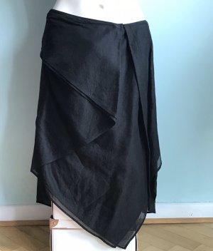 Donna Karan Jupe asymétrique noir coton