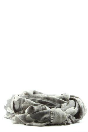 10 Days Sjaal met franjes lichtgrijs abstract patroon casual uitstraling