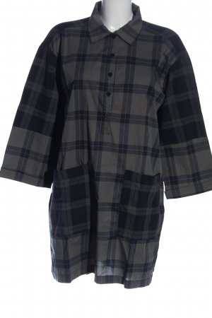 10 Days Shirt Blouse light grey-blue check pattern casual look