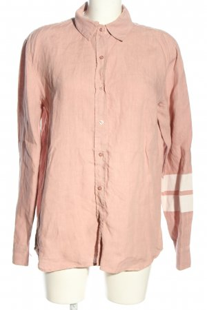 10 Days Linen Blouse pink-white striped pattern casual look