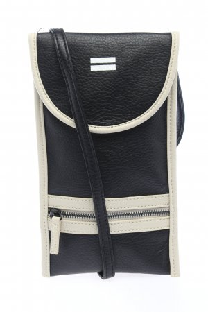 10 Days Minibolso negro-blanco puro look casual