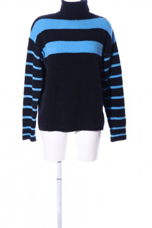 10 Days Turtleneck Sweater black-blue striped pattern business style