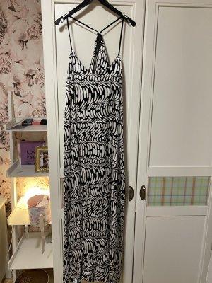 10 Days A-lijn jurk wit-zwart Viscose