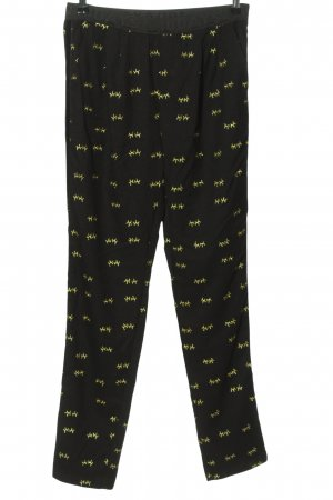 10 Days Jersey Pants black-gold-colored abstract pattern casual look