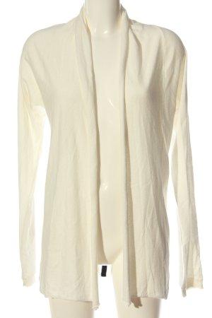 10 Days Cardigan tricotés blanc-noir motif rayé style décontracté