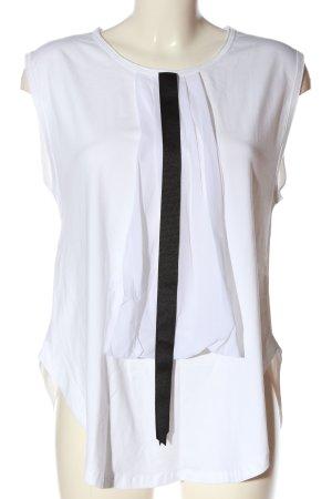 10 Days Gebreid shirt wit-zwart casual uitstraling