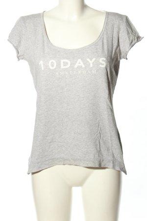 10 Days T-shirt grigio chiaro-bianco puntinato stile casual