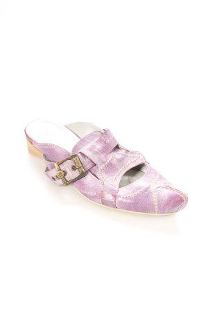 10 Dence Heel Pantolettes purple casual look