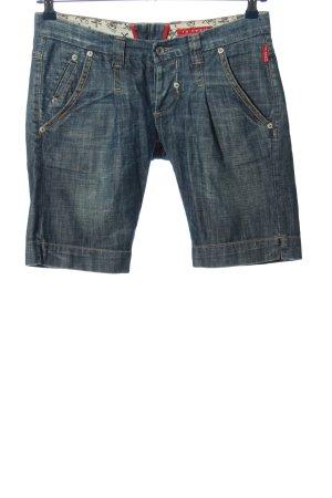 10 FEET Short en jean bleu style décontracté