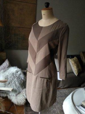 10 FEET Robe à manches longues taupe-gris brun coton