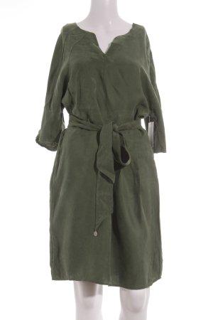 10 FEET Robe à manches courtes kaki effet velours