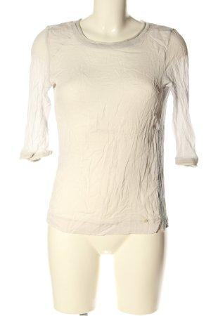 10 FEET Top à manches longues blanc cassé-gris clair moucheté