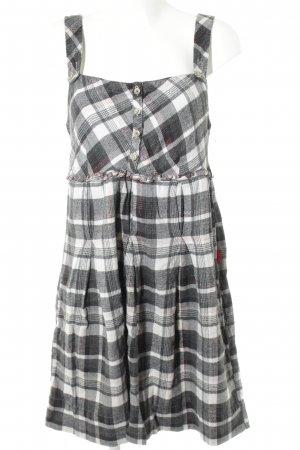 10 FEET Mini Dress black-white check pattern casual look