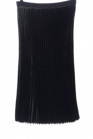 10 FEET Jupe plissée noir motif rayé style décontracté
