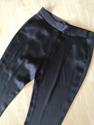 100 % AllSaints Hose Business Schwarz Satin Chino
