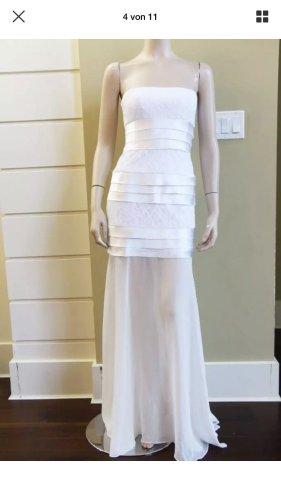 BCBG Maxazria Sukienka gorsetowa w kolorze białej wełny-biały