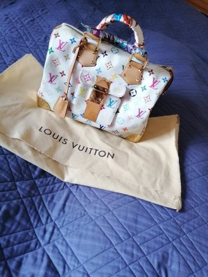 100 % Authentic Preloved Louis Vuitton Multicolor Speedy White