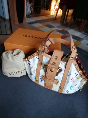 100% Authentic Preloved Louis Vuitton Multicolor White Theda