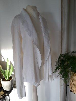 H&M Chaqueta de punto cruzada blanco Algodón