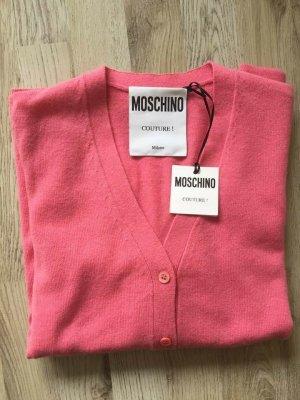 Moschino Cardigan in maglia rosa Cachemire