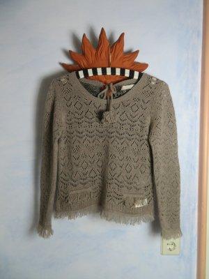 Odd Molly Pullover in cashmere marrone-grigio-talpa