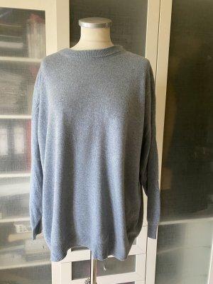 100% PURE CASHMERE Pullover in cashmere blu acciaio