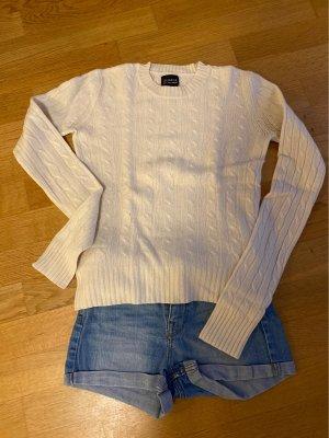 100% cashmere pullover in weiss grösse32-34