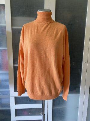 Pullover in cashmere arancione
